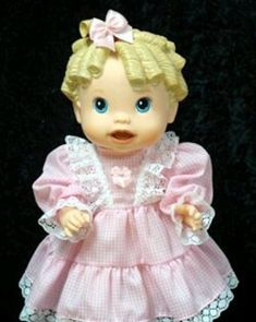Adorable Doll Clothes and Doll Accessories for Baby Alive® Baby All Gone Dolls. Darling Handmade Doll Outfits, Doll Dresses and Pajamas for Baby All Gone Dolls. Baby Alive Doll Clothes, Baby Alive Dolls, Pink Gingham, Gingham Dress, Kids Outfits, Doll Outfits, Doll Dresses, Bitty Baby