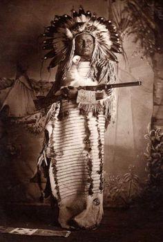 """""""White Bear"""", Dakota Sioux, 1901."""