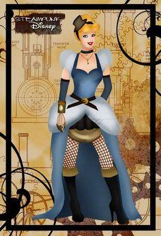 Revamped Iconic Cartoons : Steampunk Disney Princesses