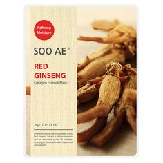 Soo Ae Collagen Essence Mask Red Ginseng - 5 count