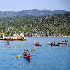 Along the Lycian Way isn't (entirely) on foot! This is kayaking around Kaş! It would take about 3-5 days to explore all of the sunken cities and ancient ruins in this spectacular part of Turkey!
