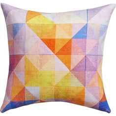 """CB2 Mingled 16"""" Pillow With Down-Alternative Insert ($25) ❤ liked on Polyvore"""