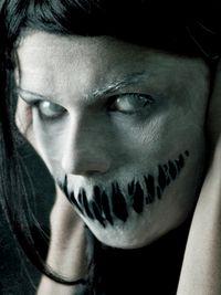 Scary Face Halloween Makeup