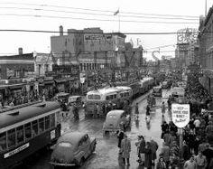 Street Parade Edmonton November 5, 1945 #vividprint #yeg