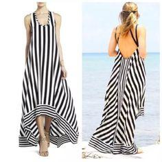 Chicos Fashion, Bcbgmaxazria Dresses, Fashion Design, Fashion Tips, Fashion Trends, Striped Dress, Summer Dresses, Maxi Dresses, Couture