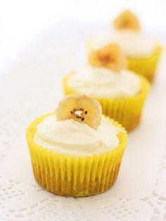 Banana Cupcakes | A Spoonful of Sugar