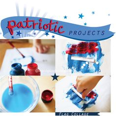 red + white + blue patriotic activities and children's art projects