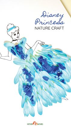 This beautiful Disney princess nature craft will delight your kids, best of all they're playing with nature and getting all the added benefit of sensory play. #disneyprincess Summer Camp Activities, Summer Camp Crafts, Fun Activities For Kids, Camping Crafts For Kids, Easy Crafts For Kids, Fun Crafts, Disney Princess Crafts, Disney Princess Dress Up, Nature Crafts