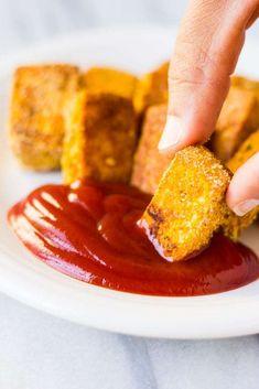 Easy Baked Tofu Nuggets. Vegan/Gluten-free and super crispy!