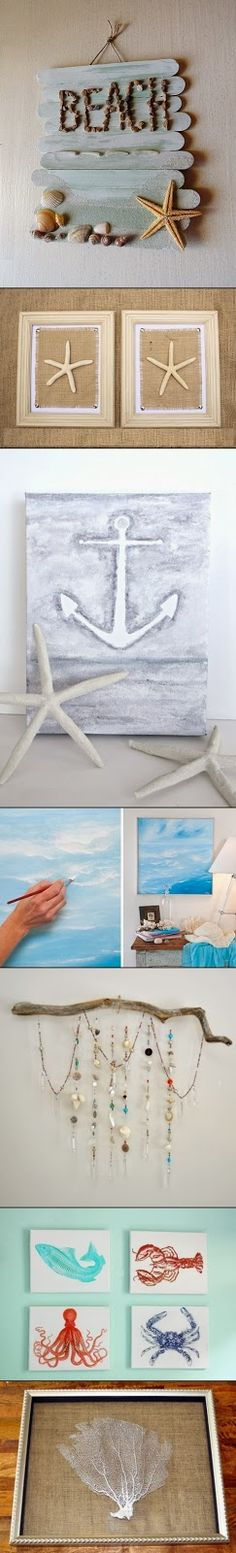 29 beach crafts coastal diy wall art beach crafts diy wall art and diy wall - Timeless principles that you need to try out for your home decor ...