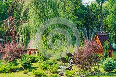 Decorative flower bed in the Maxim Gorky Central Park for Culture and Recreation…
