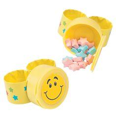 Smile Face Slap Bracelets with Candy