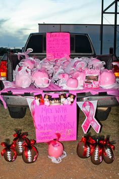 Great fundraiser for fall festivals, trunk or treats etc! Especially since October is breast cancer awareness month!