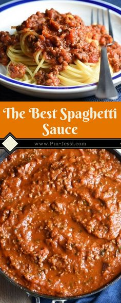Meat Sauce Recipes, Pasta Recipes, Beef Recipes, Dinner Recipes, Cooking Recipes, Healthy Recipes, Best Homemade Spaghetti Sauce, Best Spaghetti Recipe, Spaghetti