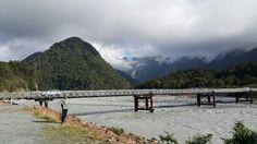 Franz Josef glacier and crossing Waiho river