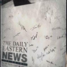 2015 new editor's wall #easternillinoisuniversity #eiuden #centennial