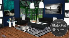 Sims 4 CC's - The Best: TS2 Studio Pad Living Room Set Conversion by Migue...