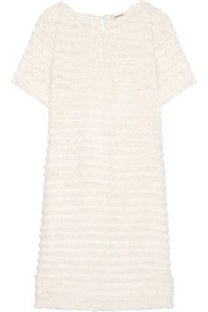 L'Agence Mika cotton and silk-blend trimmed voile mini dress | THE OUTNET