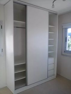 other bedroom closet idea, better with sliding mirror though Bedroom Closet Storage, Bedroom Closet Design, Bedroom Wardrobe, Closet Designs, Interior Design Living Room, Home Office Furniture Desk, Tiny House Furniture, Home Decor Furniture, Wall Wardrobe Design