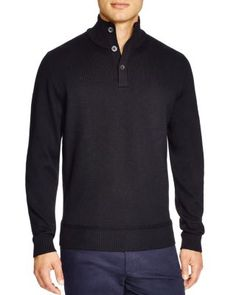 BOSS HUGO BOSS Edem Button Neck Sweater - 100% Bloomingdale's Exclusive | Bloomingdale's