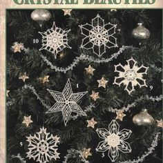 **PATTERNS ONLY - Not the Finished Product - PATTERNS ONLY** X546 Crochet PATTERN Book ONLY More Crystal Beauties 12 Snowflake Ornaments Patterns Offered is a Leisure Arts book called More Crystal Beauties....12 Snowflake designs to crochet by Patricia Kristoffersen....Book is USED but in excellent condition....no writing, marks or tears at all....covers show some wear. ~~YOU ARE NOT BUYING A DOWNLOADABLE or EMAILED or DIGITAL COPY of the pattern.~~ The item offered is for the PATTERN or ...