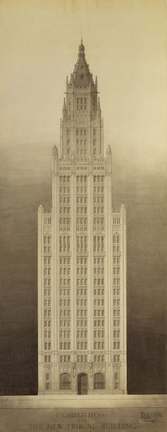 Chicago Tribune Tower Competition Entry: Michigan Avenue Elevation | The Art Institute of Chicago