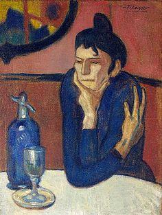 Le Buveuse d'absinthe, 1901, Pablo Picasso