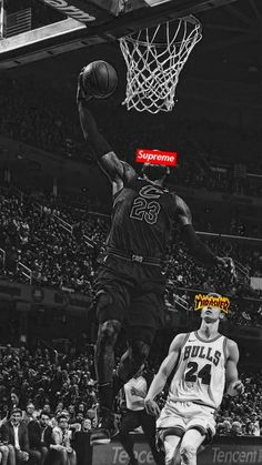 Created with BeFunky Photo Editor Fashion Wallpaper, Trendy Wallpaper, Basketball Pictures, Basketball Players, Cavs Championship, Slam Magazine, Lebron James Wallpapers, Lakers Wallpaper, Supreme Iphone Wallpaper