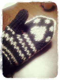 猫の肉球ミトンの作り方 編み物 編み物・手芸・ソーイング ハンドメイド   アトリエ