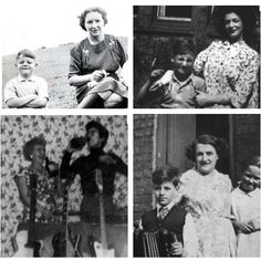 Paul, John, George, and Ringo as children with their Mothers.
