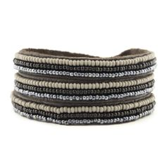 Chan Luu - Allure Combo Seed Bead Triple Wrap Bracelet, $70.00. Made in Kenya