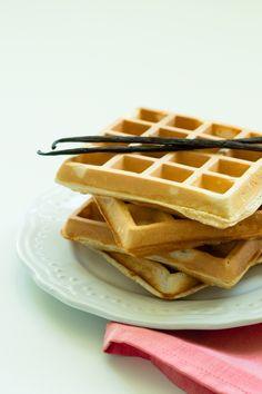 vanilkové vafle waffle wafle recept základní belgické americké bruselské vanilka vanilla wafel