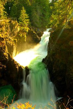 Little Qualicum Falls by jillian anderson, via Flickr - near Parksville and Qualicum Beach on Vancouver Island