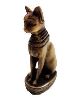 "Egypt Bastet Bast Goddess Cat Pharaoh Figurine Statue Ancient 3"" Sculpture 201"