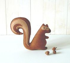 Stanley the Squirrel // Beginners Hand Sewing by LittleHibouShoppe, $4.00
