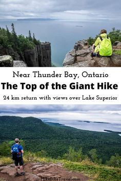 The fabulous Top of the Giant hike in Sleeping Giant Provincial Park near Thunder Bay, Ontario is 24 km return, and much of that is dead flat & easy. Fantastic Lake Superior views #hiking #Ontariohikes #LakeSuperior #TopoftheGiant #besthikes #SleepingGiantProvincialPark Thunder Bay Canada, Ontario Parks, Discover Canada, Ontario Travel, Atlantic Canada, Visit Canada, Best Hikes, Round Trip, Lake Superior