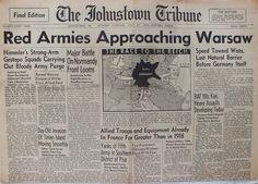 The Johnstown Tribune - World War II: July 24, 1944: Red Armies Approaching Warsaw
