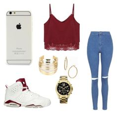 """""""Untitled #27"""" by savannahsernah on Polyvore featuring Topshop, WithChic, Bony Levy and Michael Kors"""