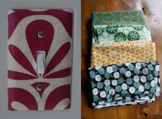 How To: Cover Your Switchplates With Fabric ScrapsTiny Decor