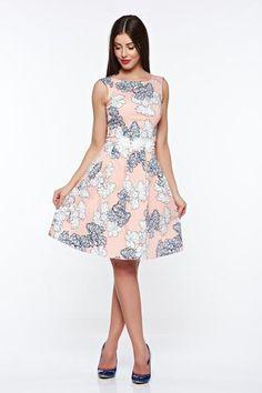Rózsaszínű LaDonna elegáns harang pamutból készült ruha belső béléssel kézzel varrott díszítésekk High Low, Dresses, Fashion, Vestidos, Moda, Fashion Styles, The Dress, Fasion, Dress