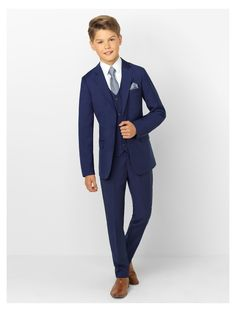 Romano Page Boys Wedding Communion Prom French Navy Blue Formal Kids Suit
