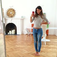 New spot for the selfie mirror  | redesign of our living room is in full force  with @alexikonn
