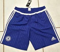 ADIDAS Chelsea FC Soccer Shorts #soccer#football#futbol#chelsea#chelseafc#premierleague#ebay#ebayseller Chelsea Fc, Soccer Uniforms, Soccer Shorts, Adidas, Custom Made, Sportswear, Football, Ebay, Fashion
