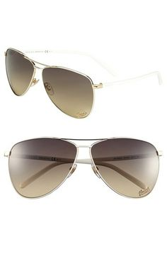 a7dd441b40 Gucci 62mm Metal Aviator Sunglasses available at  Nordstrom Gucci Eyewear
