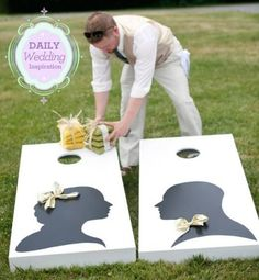 For the Corn Hole fans- backyard wedding ideas