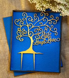 Live Laugh Love Wedding Cake Topper by WeDoExpressions on Etsy