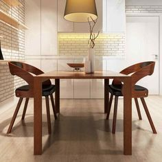 Pair Of Chairs Dining Wooden Padded Backrest Furniture Home Modern Living Room Wooden Dining Chairs, Fabric Dining Chairs, Dining Chair Set, Dining Table, Home Living Room, Living Room Designs, Home Goods Chairs, Decor Interior Design, Interior Decorating