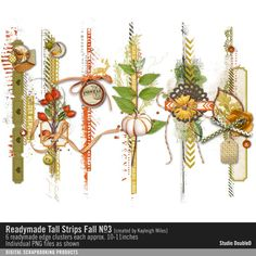 Readymade Tall Strips: Fall No. 03- Studio Double-D Elements- EL792121…