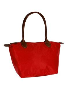 Solid Red Tote Bag