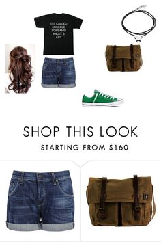 """""""oc look"""" by knightshadow507 ❤ liked on Polyvore featuring Citizens of Humanity, Converse, DamnDog and Under the Rose"""